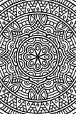 Предпосылка мандалы вектора индийская Стоковые Изображения