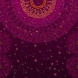 Предпосылка мандалы хны цвета Стоковые Фото