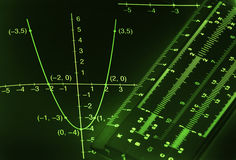 предпосылка математически Стоковое Фото