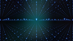 Предпосылка межзвездного космоса вектора Космическая иллюстрация галактики с межзвёздным облаком, stardust и яркими сияющими звез Стоковое Изображение
