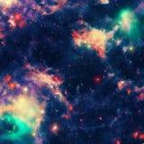 Предпосылка межзвёздного облака космоса красивая Стоковое Изображение RF