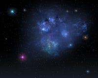 Предпосылка межзвёздного облака космоса Стоковое Изображение RF