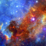 Предпосылка межзвёздного облака космоса Стоковое фото RF