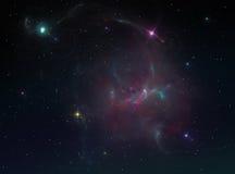 Предпосылка межзвёздного облака Стоковое Изображение