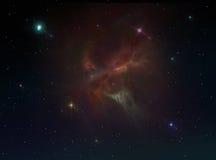 Предпосылка межзвёздного облака Стоковые Изображения