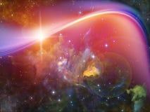 Предпосылка межзвёздного облака Стоковое фото RF