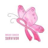 Предпосылка месяца осведомленности рака молочной железы Стоковые Изображения