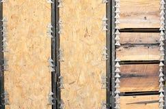 Предпосылка металла и древесины Стоковые Изображения