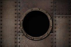 Предпосылка металла пара иллюминатора подводной лодки панковская Стоковое Изображение
