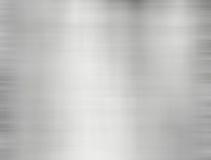 Предпосылка металла почищенной щеткой стальной пластины с отражениями Стоковая Фотография