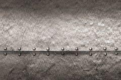 Предпосылка металла Grunge заклепка на металлической пластине Стоковые Изображения