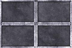 Предпосылка металла Grunge заклепка на металлической пластине Стоковая Фотография RF