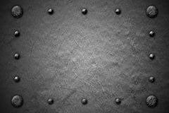 Предпосылка металла Grunge заклепка на металлической пластине Стоковое фото RF