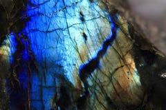 Предпосылка минерала лабрадорита Стоковое фото RF