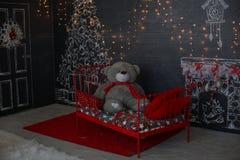 предпосылка миражирует год игрушек темного вечера новый s состава рождества troll темы квадрата картины изверга фантазии абстракт Стоковые Фотографии RF