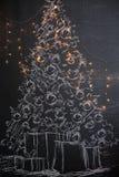 предпосылка миражирует год игрушек темного вечера новый s состава рождества troll темы квадрата картины изверга фантазии абстракт Стоковое фото RF