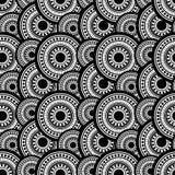 предпосылка миражирует подкрашиванный песок изображения золота падений украшения стеклянный Безшовная картина точек и кругов черн Стоковое Изображение