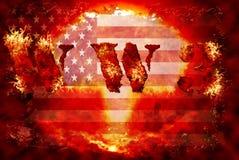 Предпосылка мировой войны 3 ядерная Стоковое фото RF