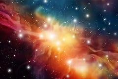 Предпосылка мистика астрологии конспект против космоса портрета предпосылок женского наружного Иллюстрация цифров вектора вселенн Стоковое Изображение