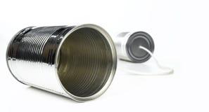 предпосылка может изолированная белизна олова Стоковое фото RF