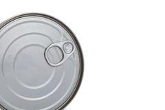 предпосылка может изолированная белизна олова Стоковые Изображения RF