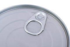 предпосылка может изолированная белизна олова Стоковые Изображения