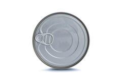 предпосылка может изолированная белизна олова Стоковое Фото