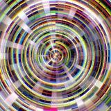 Предпосылка мозаики круговая стеклянная красочная абстрактная Стоковая Фотография