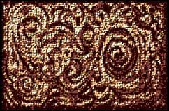 Предпосылка мозаики флористическая Стоковое фото RF