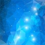 Предпосылка мозаики Bluel полигональная Стоковое Изображение