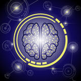 Предпосылка мозга цифровая Стоковое Фото