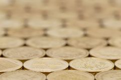 Предпосылка монеток английского фунта Стоковая Фотография RF