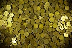 Предпосылка монеток Много монеток Русский рубль Стоковое Изображение RF