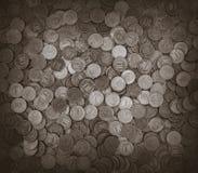 Предпосылка монеток Много монеток Стоковая Фотография RF