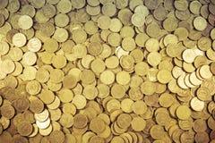 Предпосылка монеток Много монеток Стоковые Изображения RF