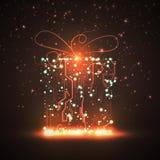 Предпосылка монтажной платы, подарок рождества Стоковые Изображения RF