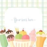 Предпосылка мороженого лета Стоковое Изображение RF