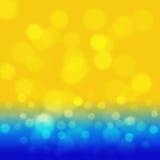 Предпосылка моря лета с желтым bokeh Иллюстрация вектора