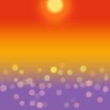 Предпосылка моря лета с желтым bokeh иллюстрация штока