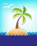 Предпосылка моря лета Стоковое Изображение