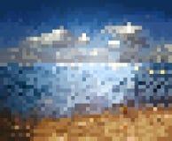 Предпосылка моря нерезкости Стоковая Фотография RF