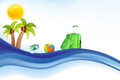 Предпосылка моря, Солнця и лета Стоковое Изображение