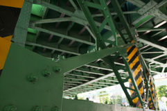 Предпосылка моста металла промышленная Стоковые Фотографии RF