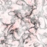 Предпосылка мрамора - черная, белая и красно- безшовная Стоковые Фото