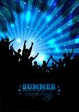 Предпосылка музыки лета - вектор Стоковое Фото