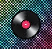 Предпосылка музыки с показателем винила Стоковое Изображение RF