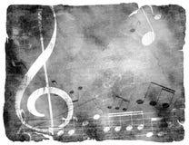 Предпосылка мюзикл Grunge Стоковая Фотография RF