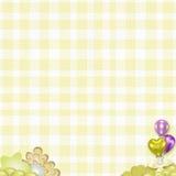 Предпосылка младенца желтая Стоковое Изображение RF