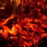 Предпосылка накаляя тлеющих углей Стоковая Фотография RF