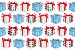 Предпосылка настоящего момента подарочной коробки подарков рождества иллюстрация вектора